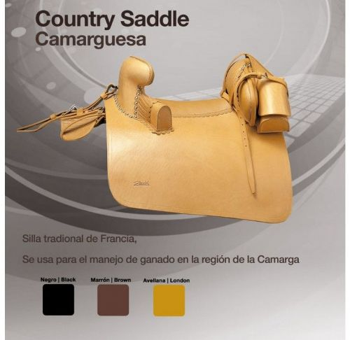 Traditional French Carmargue saddle by Zaldi